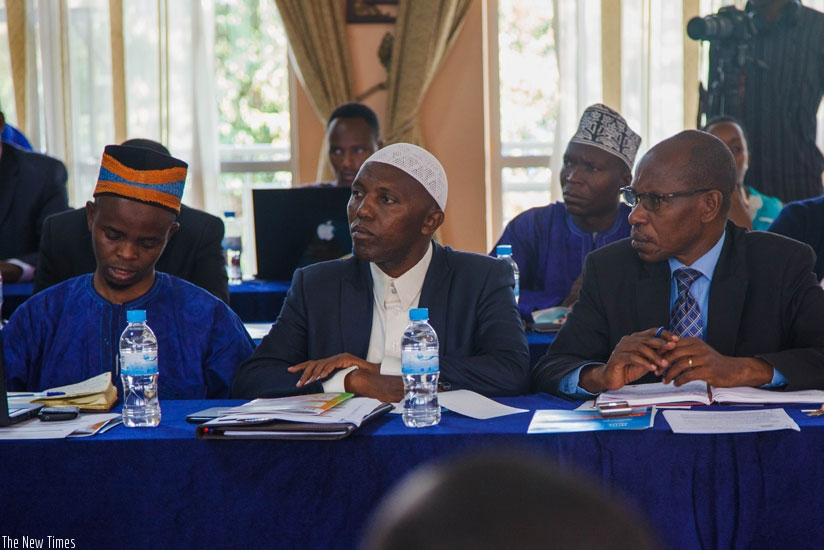 Participants  follow proceedings during the meeting yesterday. (Teddy Kamanzi)