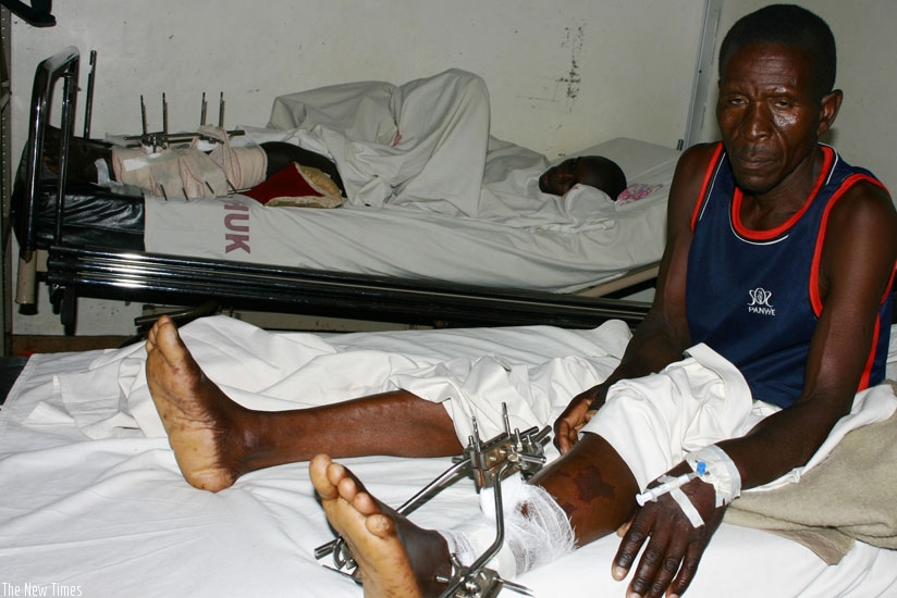 An in-patient at CHUK. Dr Binagwaho's impromptu visit to the referral facility has caused a stir. (File)