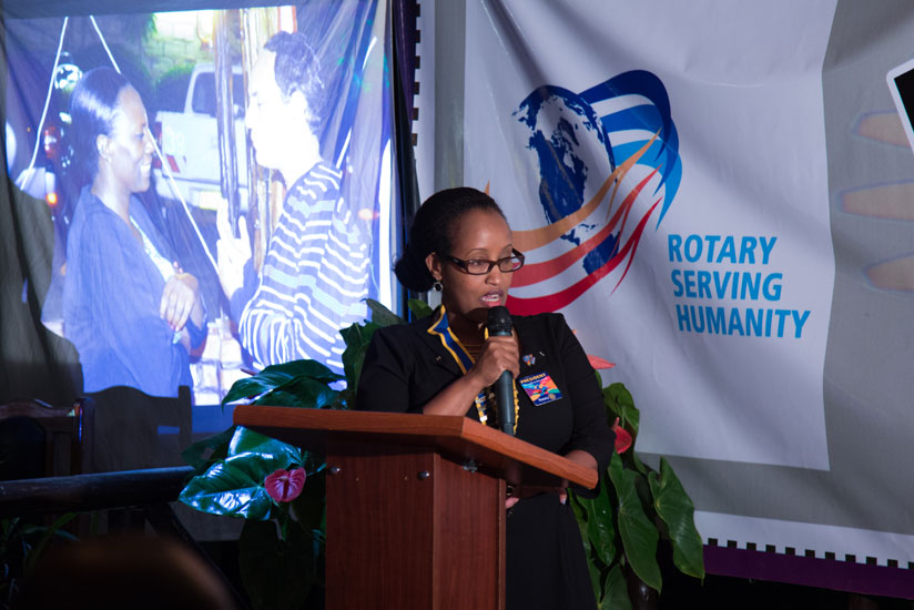 1466374779Joan-Rwanyonga-the-outgoing-president-of-Rotary-Club-Kigali-Virunga-gives-her-remarks-in-Kigali-on-Saturday