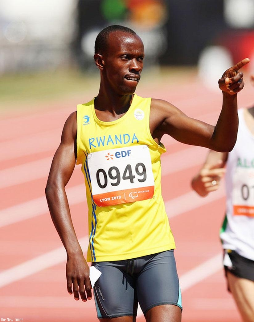 NPC boss says, Muvunyi (above) understands this is the best time for him to win a medal in Paralympic Games. (File)
