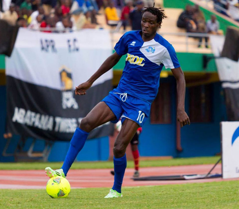 Rayon Sports FC striker Davis Kasirye has completed his move to DR Congo's Daring Club Motema Pembe. (File)