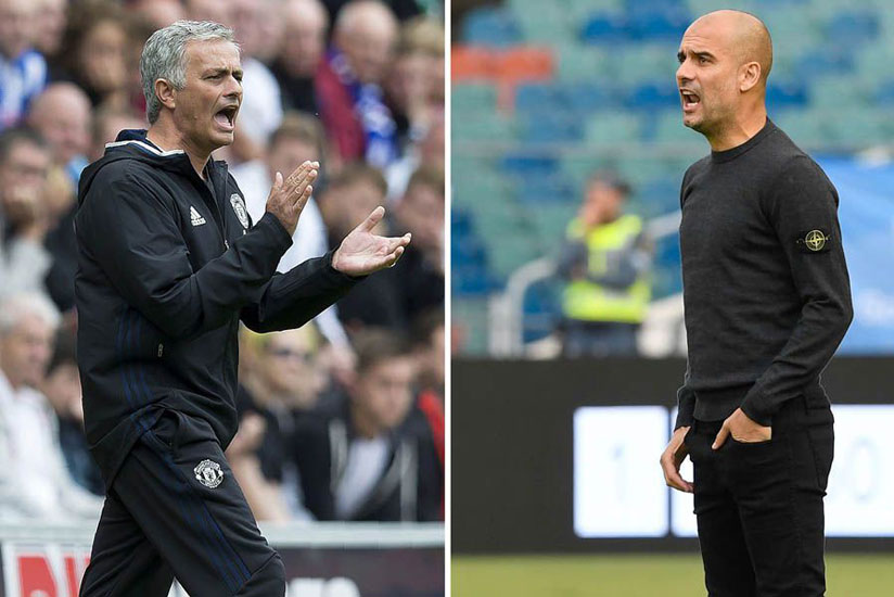 There is no love lost between Mourinho and Guardiola whose rivarly dates back from their days in Spanish La Liga with Real Madrid and Barcelona, respectively. / Net photo