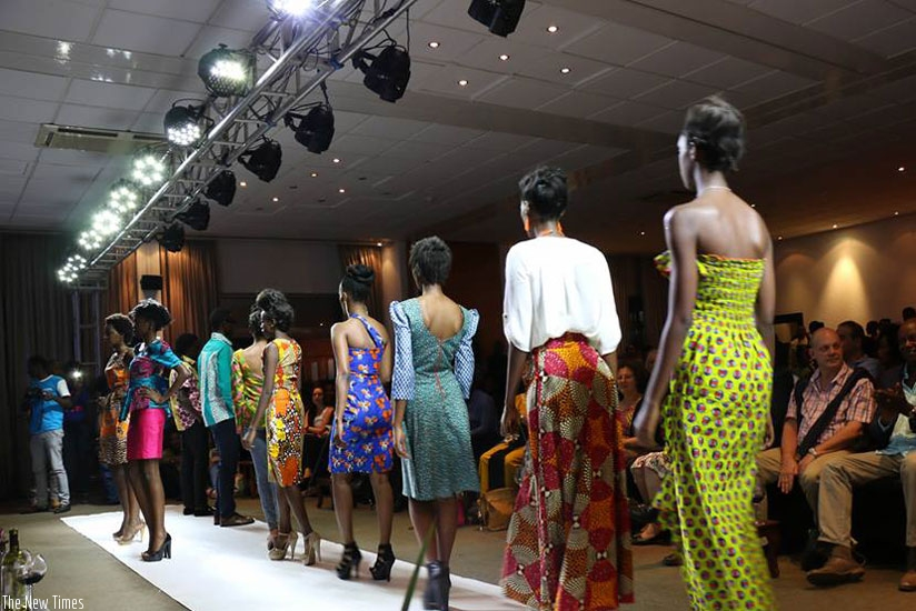 Models on the runway during a previous fashion show. (Courtesy)