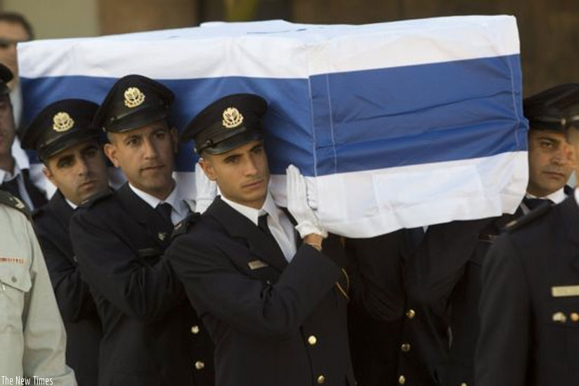 The coffin of Mr Peres has been lying in state outside parliament in Jerusalem. (Net photo)