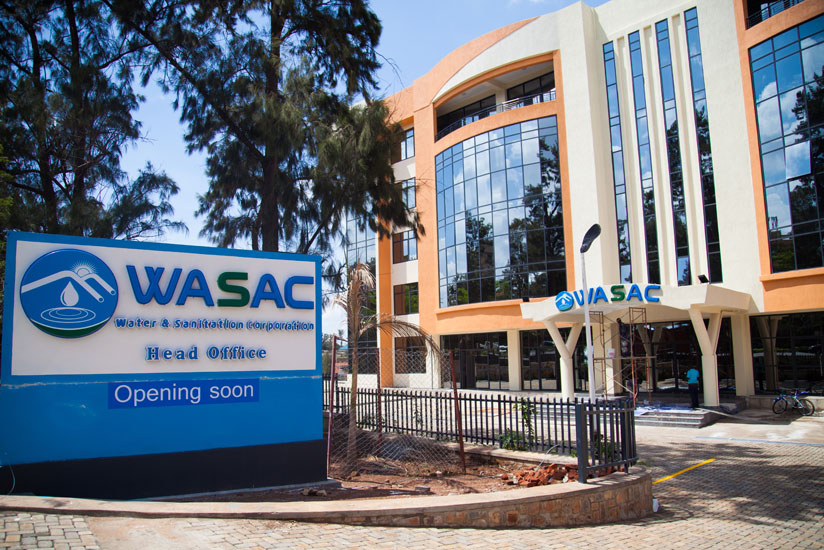 A man walks past WASAC's new offices in Gisementi. The spacious facility could help improve the firm's operations. / Nadege Imbabazi