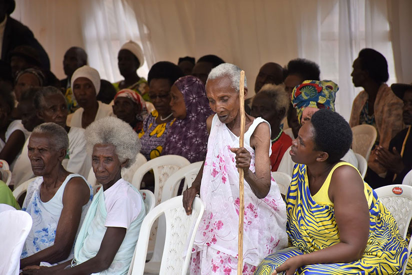 Some of the elderly people during the International Day of Older Persons celebrations in Ngoma District on Sunday. / Frederic Byumvuhore