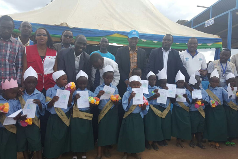 Burundian refugee children under the early childhood development programme who graduated last week. They will join primary school next academic year. / Frederic Byumvuhore