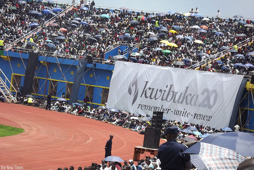 Thousands of Rwandans converge at Amahoro National Stadium to commemorate the 1994 Genocide against the Tutsi.