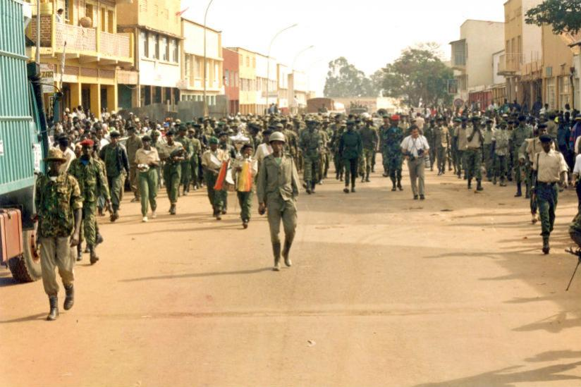RPA troops on Kigali street after the fall of the capital. / Internet photo
