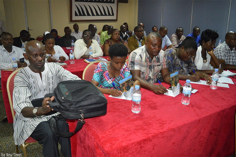 Participants at the launch of the online portal for people with disabilities in Kigali on Tuesday. (Donata Kiiza)