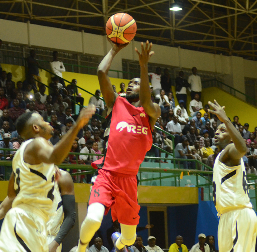 REG captain Ali Kubwimana in action against Patriots in a recent league game. / Sam Ngendahimana