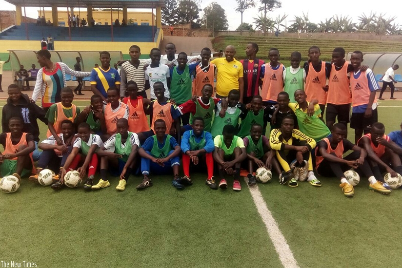 Some of the football students at Ecole Agricole Et Veterinairi (EAV) Kabutare in Huye district, Southern Province.