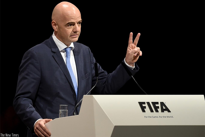 Fifa boss Infantino is in Rwanda for a two-day official visit. The Former Uefa Secretary General arrived on Saturday and leaves on Sunday. (Net photo)