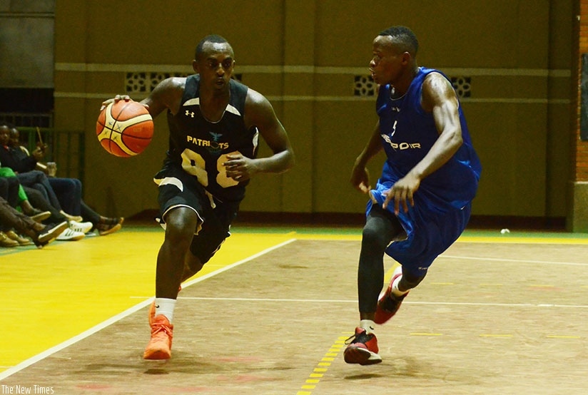 Patriot's point guard Aristide Mugabe (with ball) will captain the national team at the Africa Zone V championships in Egypt. Sam Ngendahimana.