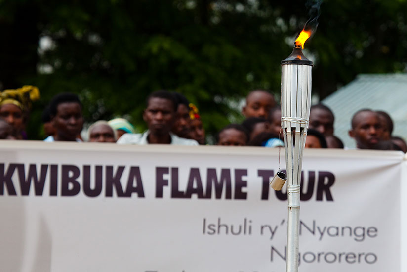 A Flame of Hope in Ngororere District during a commemoration event last year. / File