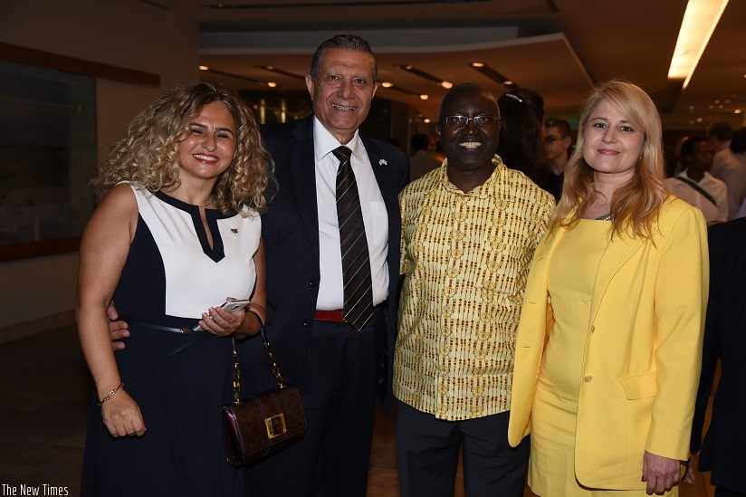 Some of the diplomats who attended the Kwibohora 23 function in Tel Aviv