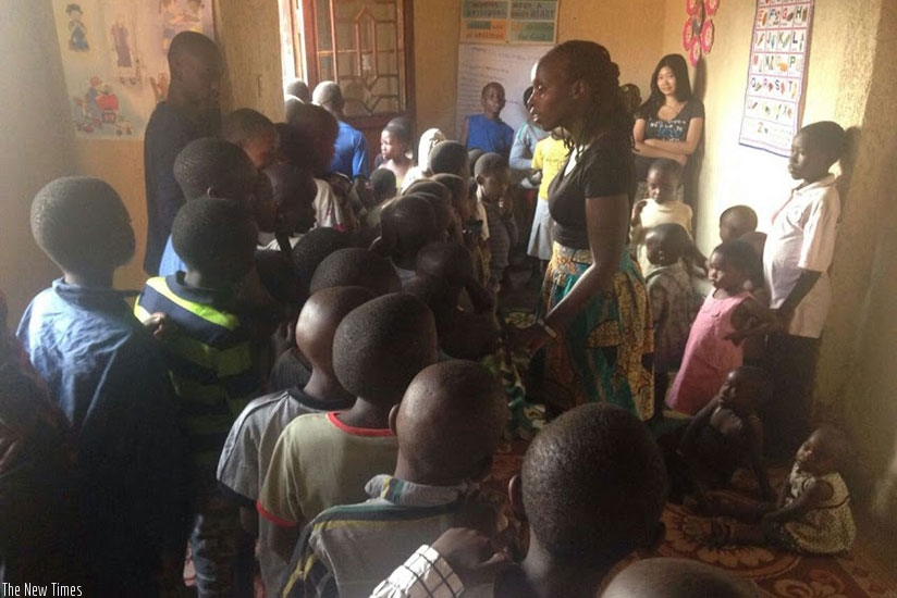 Children learning the importance of good behaviors at Ellie community during the holidays.  / Photo by Dennis Agaba.