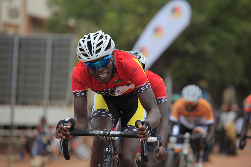 2015 Tour du Rwanda champion, Jean Bosco Nsengimana is part of the six-man Team Rwanda on the tour of the U.S. since early last month. / Sam Ngendahimana