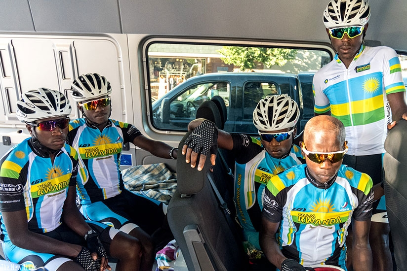 Team Rwanda, under Jonathan 'Jock' Boyer, ranks in the 13th place out of 16 teams taking part in the competition. Courtesy