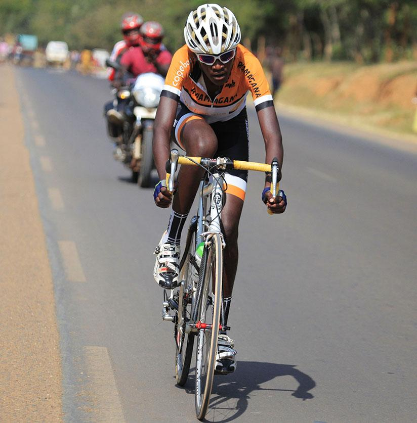 The 15-year-old Les Amis Sportifs de Rwamagana rider claimed the 86.5km women's race for her first major win. / Sam Ngendahimana