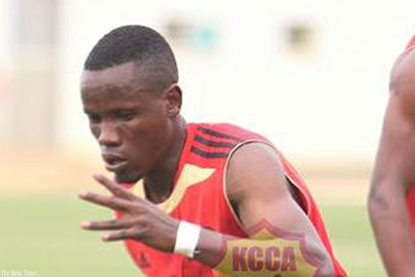 Defender Denis Rukundo during training with KCCA last week at Kigali Stadium as they prepared for a pre-season friendly with APR. Courtesy