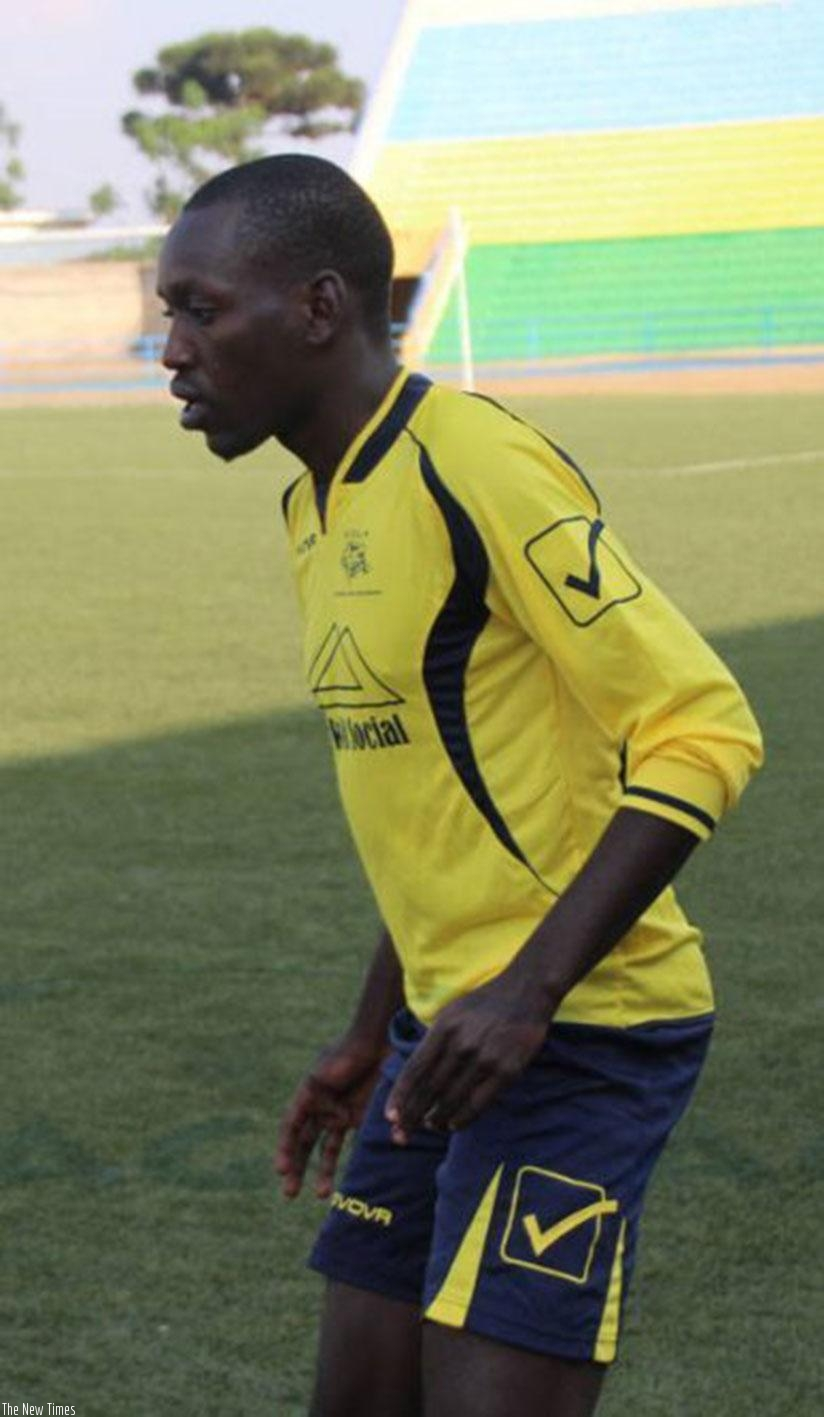 Gael Duhayindavyi, who was signed from Burundi's Vital'O trained with his new teammates on Tuesday. Courtesy.