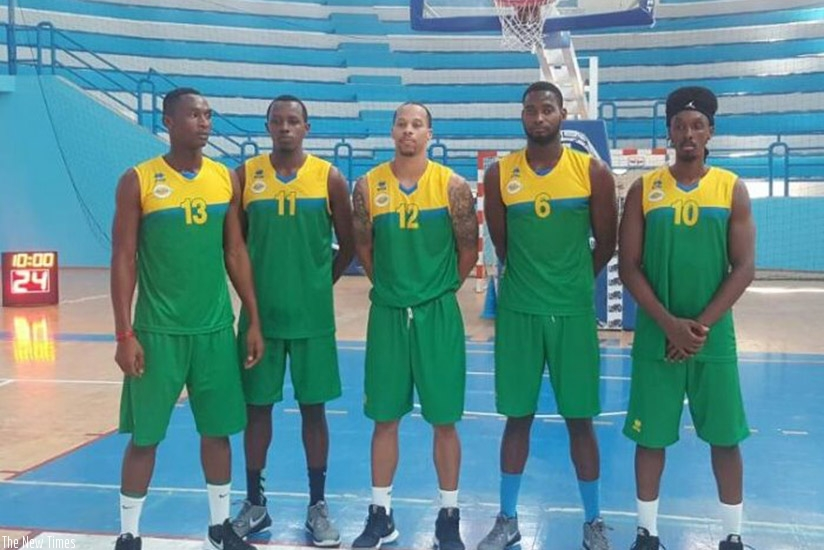 The Rwanda team that started against USM of Tunisia in their final warm-up game on Tuesday evening in Sousse. Courtesy