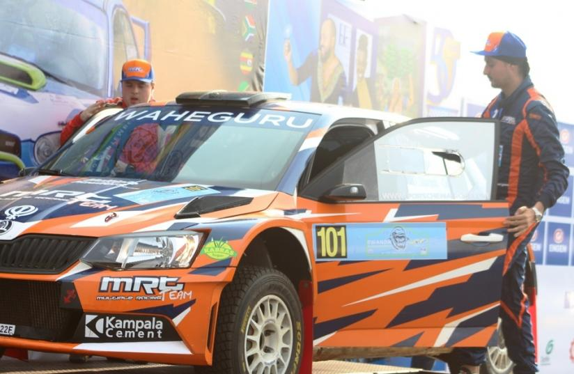 Kenyan Baryan Manvir topped the morning session on day one after four competitive sections of the Rwanda Mountain Gorilla Rally on Friday. Courtesy