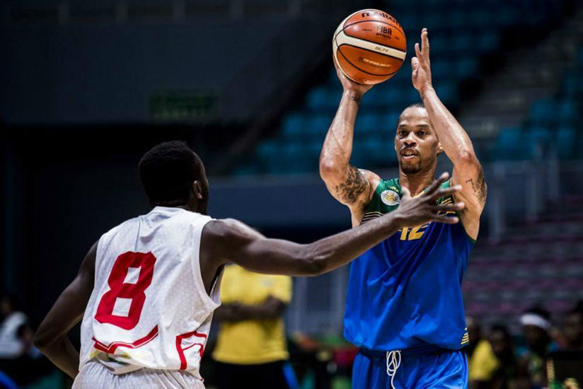 Kenneth Gasana was Rwanda's most outstanding player during their short-lived stay in the 2017 Afrobasket finals in Tunisia. / Courtesy