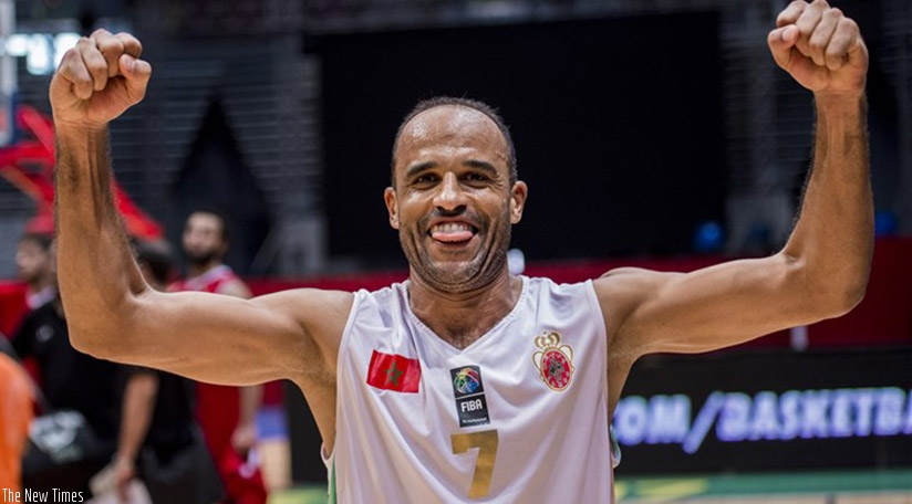 Morocco's Zakaria El Masbahi celebrates after helping his country to a shock win over Egypt on Thursday night. (Net photo)