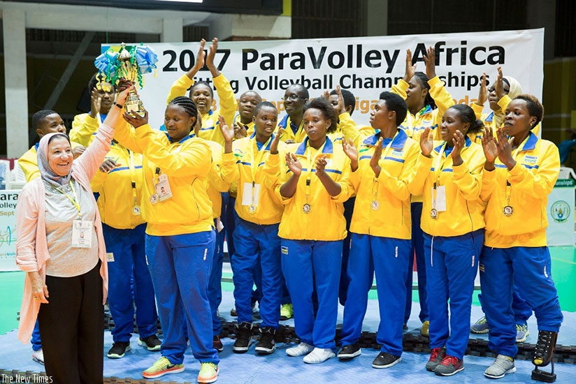 Rwanda defeated Egypt in straight sets 3-0 (25-14, 25-20 and 25-10) in 64 minutes to clinch the women's title. (Courtesy)