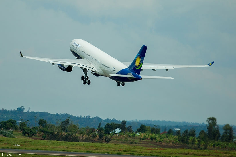 A RwandAir plane. The airline will host the AFRAA summit slated for November. (File)