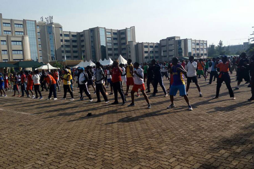 Youth engaged in different activities during the breast cancer walk last year. / Photos by Lydia Atieno.