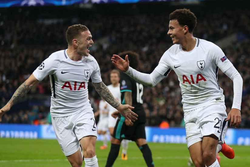 Trippier and Alli combined effectively to stun Real Madrid who made a lacklustre start to the Champions League tie. / Internet photo