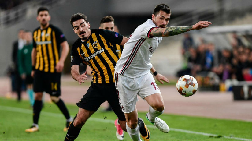 Troubled AC Milan were held to a goalless draw by AEK Athens for the second time in a fortnight in the Europa League on Thursday. / Internet photo