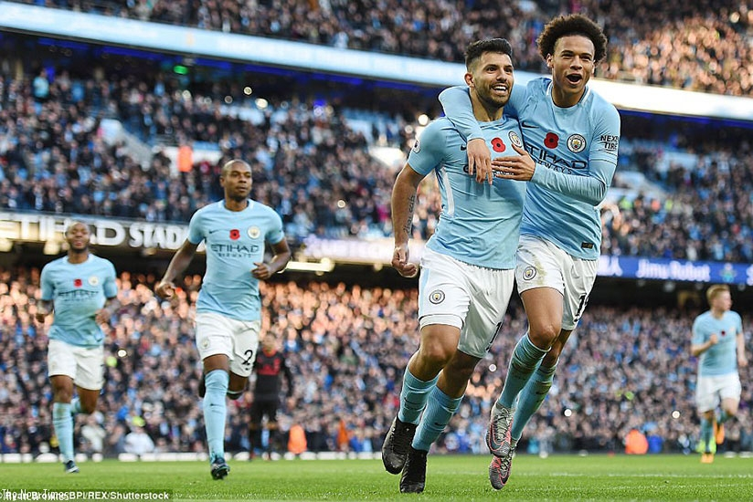 City's new record goalscorer Sergio Aguero added another to his tally when he converted a second half penalty. (Net photo)