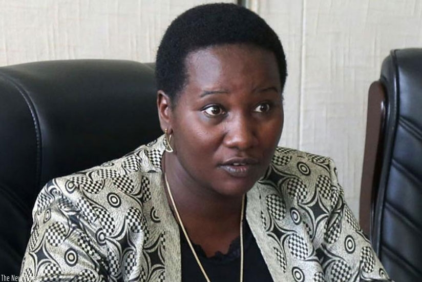 Sports and Culture minister, Juliene Uwacu at a past event. (File)