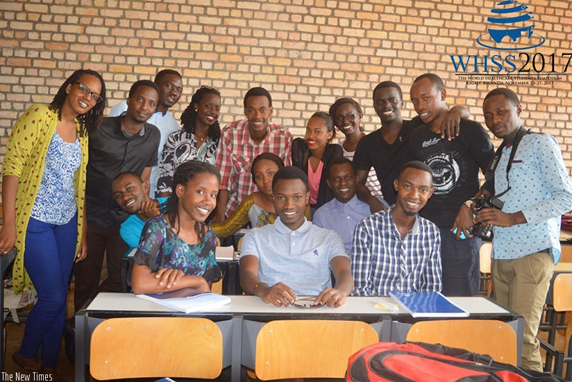 A group of medical students who met in Kigali recently to plan for the event. (Francis Byaruhanga)