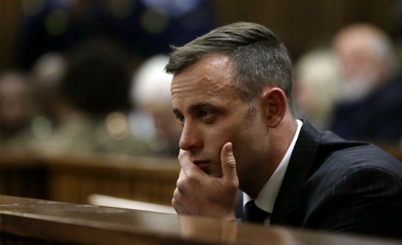 Oscar Pistorius sits in the dock during his sentencing hearing in a court in Pretoria, South Africa, June 13. Pistorius could face a 15-year sentence after his conviction for killi....