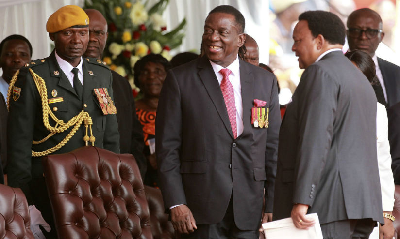 Emmerson Mnangagwa, centre, takes his seat at his presidential inauguration ceremony in Harare. / Internet photo