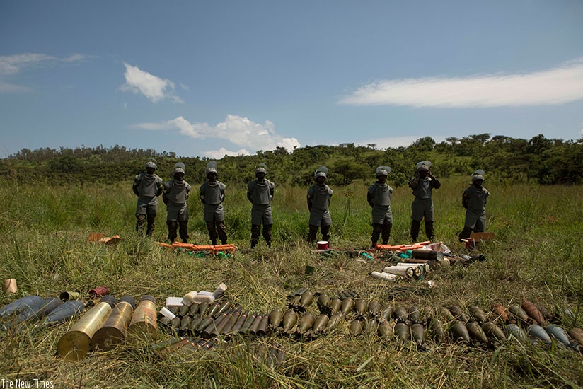 Some of the ammunition that was exploded in Gabiro. (Courtesy photos)