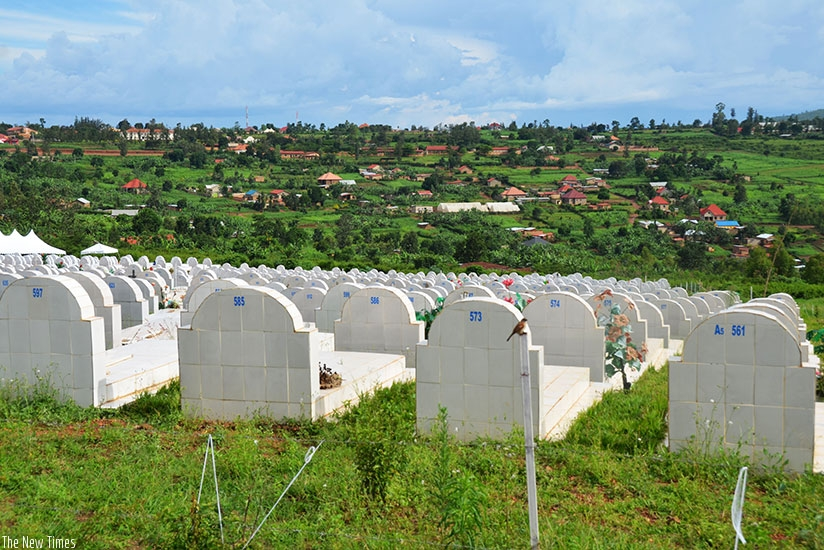 Rusororo cemetery. Kigali City needs 12 hectares of land for cemetry every five years. Kelly Rwamapera.