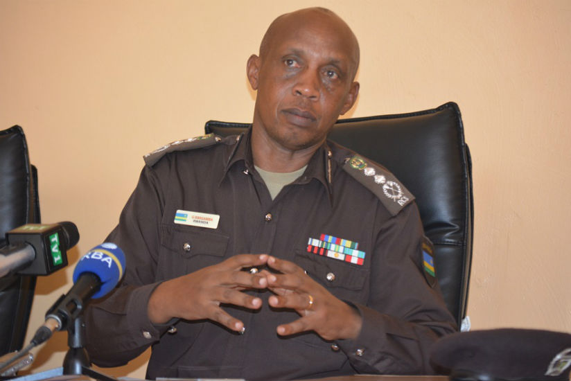 RCS commissioner General George Rwigamba addresses the media on Wednesday. / Courtesy