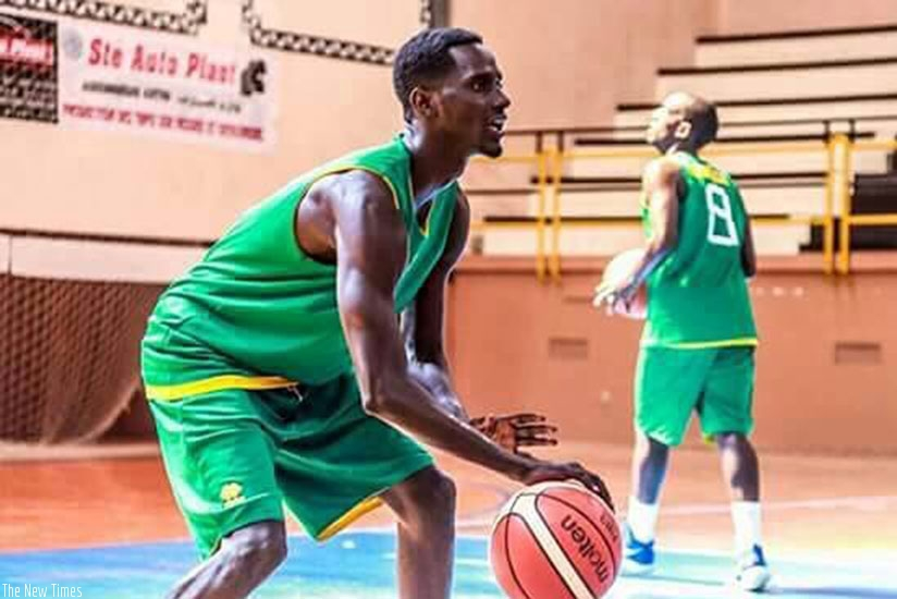Sedar Sagamba seen in a training session in Tunisia during the Afrobasket 2017 tournament. File