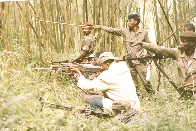 The bamboo thicket gave the fighters cover to conduct their drills without being heard by the enemy.