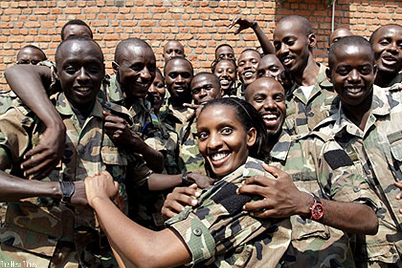 Excited students at the opening of the 2012 Civic Education course at the Rwanda Military Academy-Gako in Bugesera. Timothy Kisambira