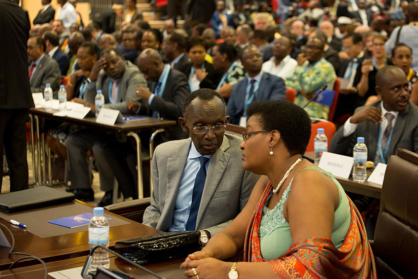 1513589623Chief-Justice-Sam-Rugege-and-the-Speaker-of-the-Chamber-of-Deputies-Donatille-Mukabalisa-during-the-opening-session-of-Umushyikirano-2017-Monday-morning.-Timothy-Kisambira