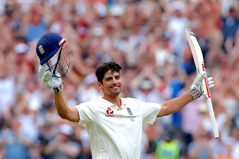 Alastair Cook struck a magnificent double century as England established a lead over Australia on day three in Melbourne. / Net photo