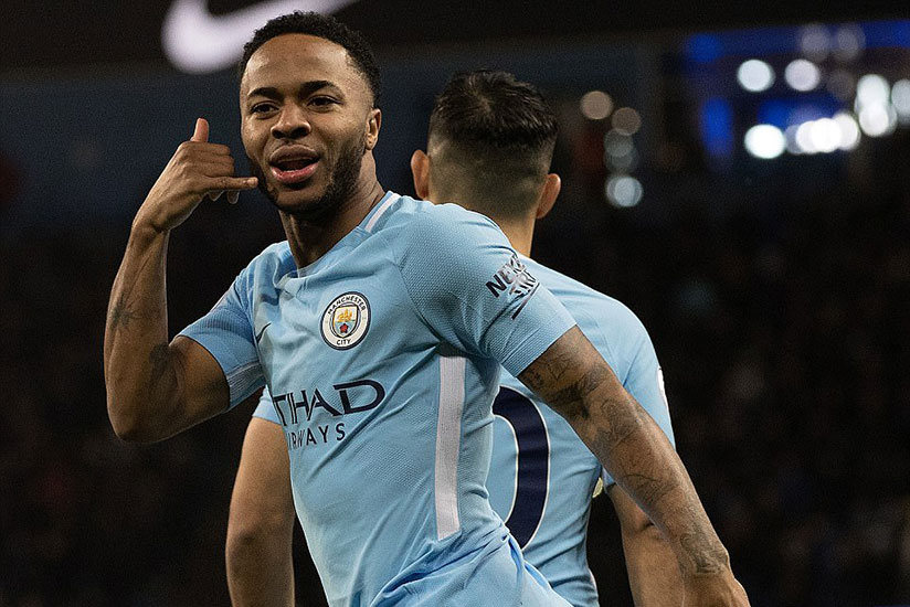 Raheem Sterling opened the scoring for City, netting inside the first 40 seconds of Tuesday's Premier League clash. / Net photo