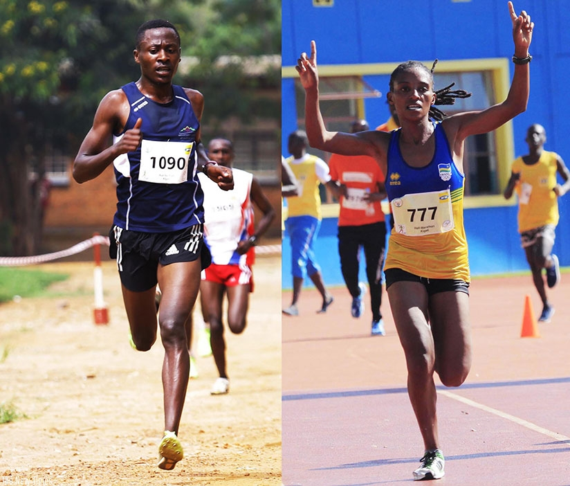 Rwandan athletes James Sugira and Salome Nyirarukundo won  medals last week. S Ngendahimana.